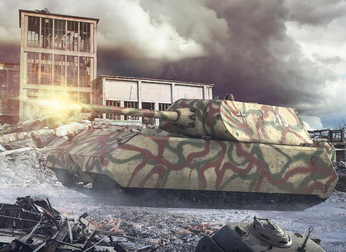 Уникальный сверхтяжелый танк. /Фото: deviantart.com