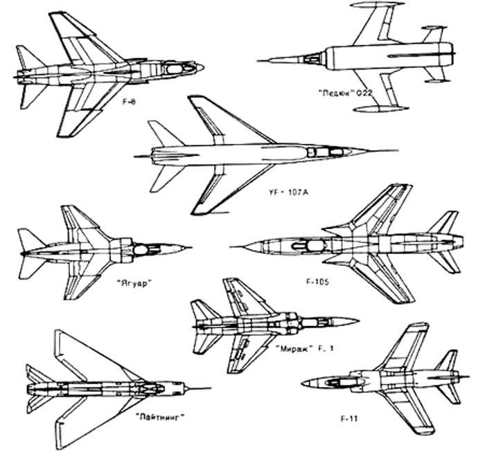 Именно поэтому сверхзвуковые самолеты проектируются со стреловидными крыльями. /Фото: coollib.com