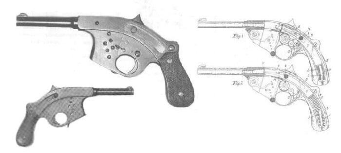Пистолет Гамильтона и его боковые чертежи. /Фото: oko-planet.su