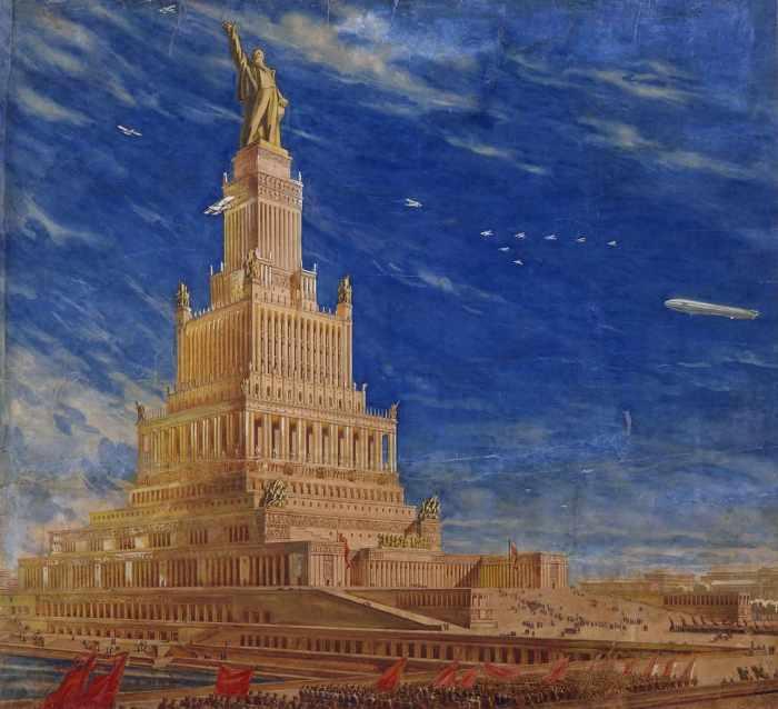 Дворец Советов - пожалуй, самый грандиозный проект в СССР 1920-х годов. /Фото: naukatehnika.com