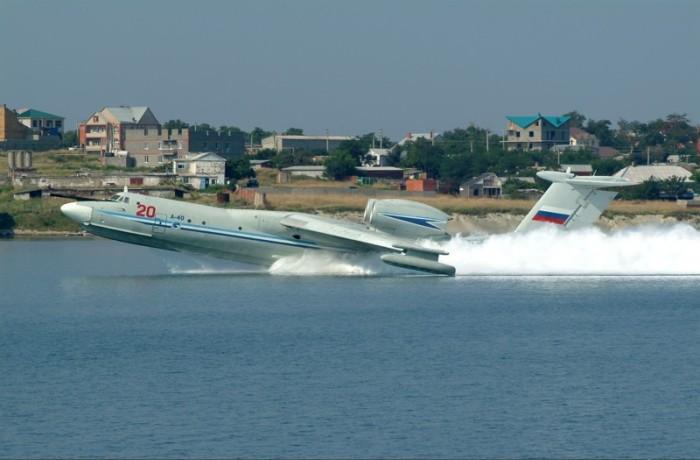 Посадка А-40 на воду. /Фото: nevsedoma.com.ua