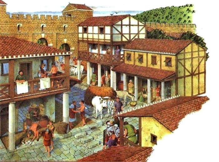 По римским улицам ходить было нелегко и неприятно. /Фото: ppt-online.org