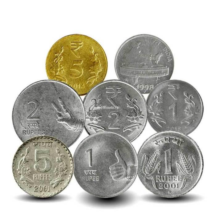 Индийские монеты требуют специальных правил экспорта.  /Фото: spbmoneta.ru