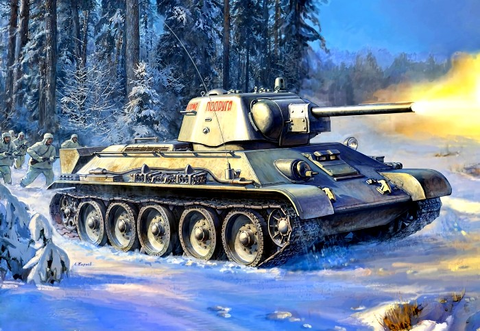 Зимой танкистам в Т-34 явно было нежарко. /Фото: goodfon.ru