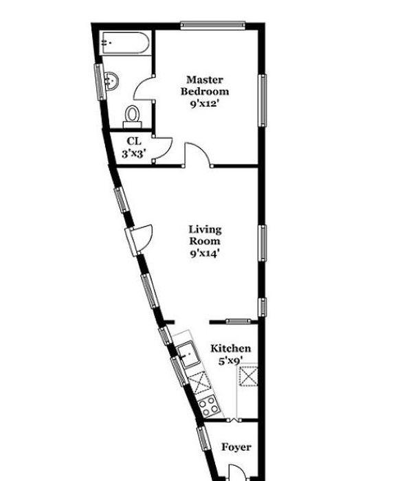 План самого узкого дома в Сиэтле. /Фото: piximus.net