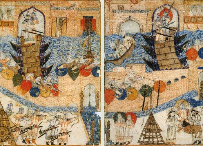 Средневековое изображение падения Багдада. /Фото: thegreatcoursesdaily.com