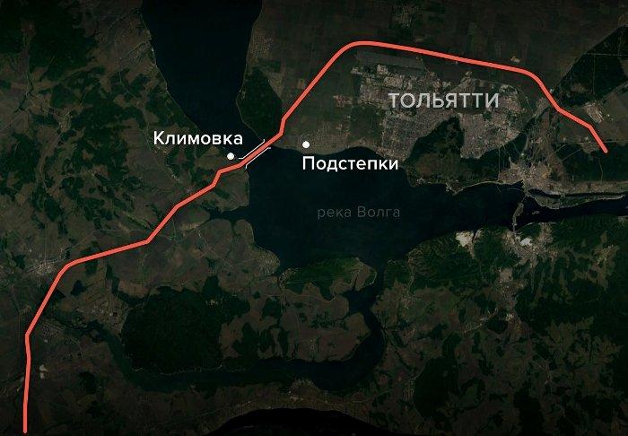 Примерная карта обхода через Тольятти. /Фото: meduza.io