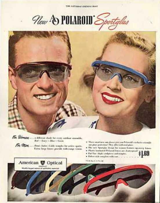 Реклама очков компании Polaroid. /Фото: vintageadbrowser.com