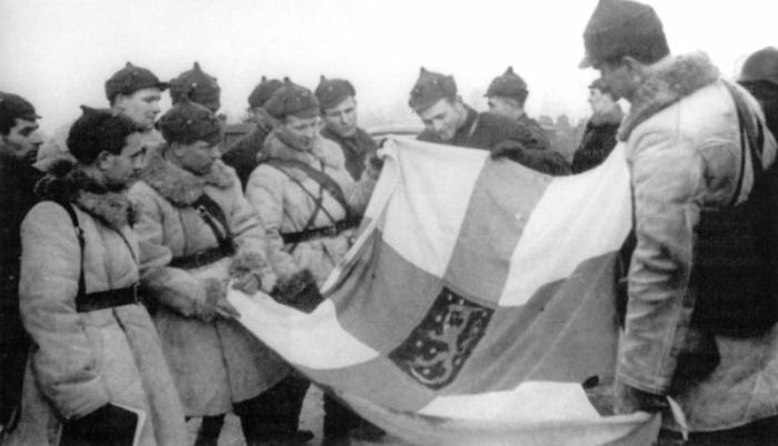 Красноармейцы в буденовках во время советско-финской войны, зима 1940 года. /Фото: wikipedia.org