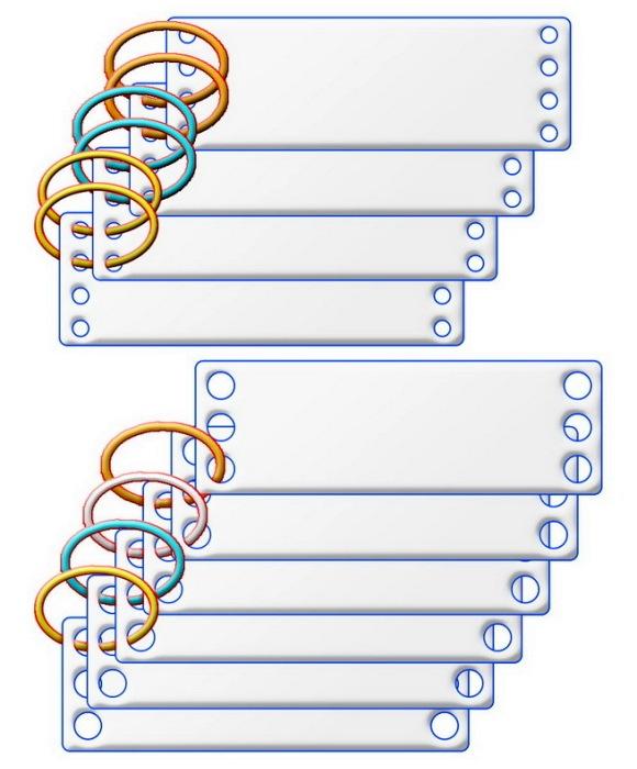 Схемы плетения бехтерца с разными вариантами нахлестов. /Фото: warspot.ru