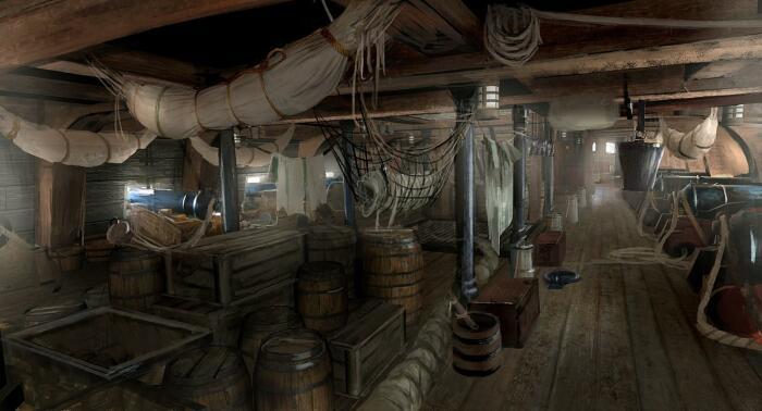 В трюмах у пиратов кроме бочек с водой и алкоголем находились овощи, фрукты, печенье / Фото: viva-raphael.com