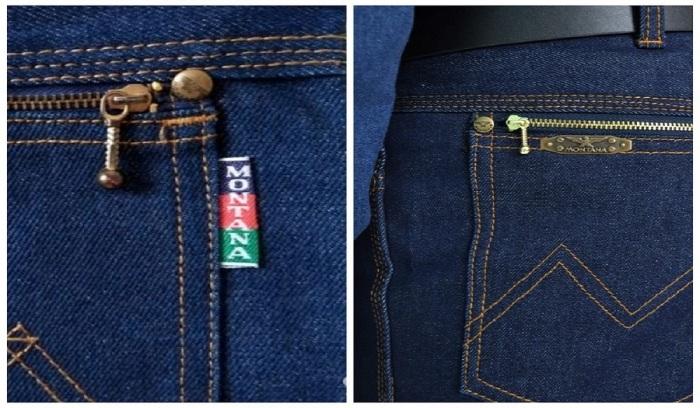 Классические джинсы Монтана изготавливались из синей ткани и имели тройную строчку / Фото: avito.ru