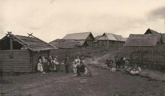 В неурожай жертвовали даже соломой с крыши дома, чтобы прокормить животных / Фото: yandex.ua