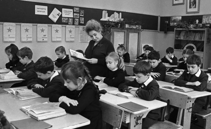 Урок в советской школе / Фото: zen.yandex.ru