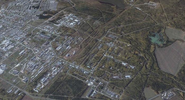 Фото Лесного со спутника / Фото: cont.ws