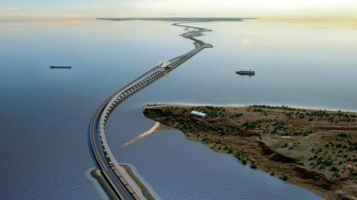 Если смогли построить Крымский мост через Керченский пролив длиной 18 км, то почему не соединить Африку и Европу с расстоянием всего 14 км / Фото: funart.pro