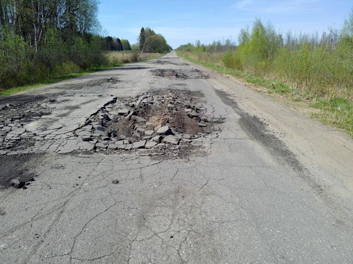 В отличие от бетонного, асфальтовое покрытие быстро разрушается даже при отсутствии интенсивного движения / Фото: drive2.ru
