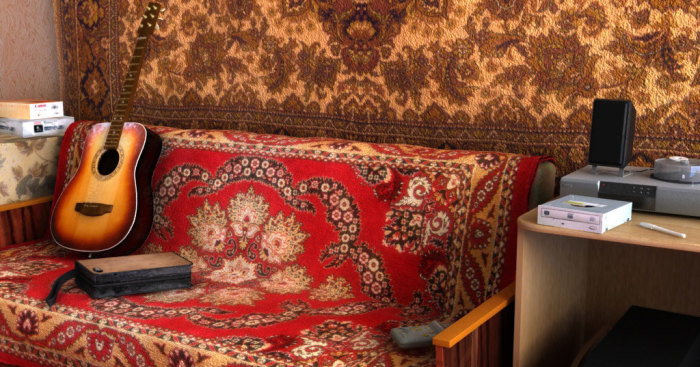 Ковры вешали не только на стены, но и укрывали ими диван / Фото: popmech.ru