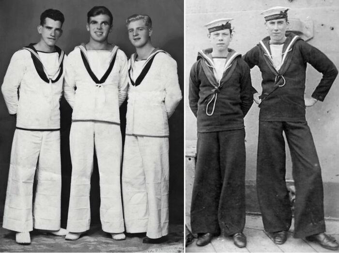 Брюки клеш появились во флоте еще во времена парусников / Фото: zhurnal-lady.com