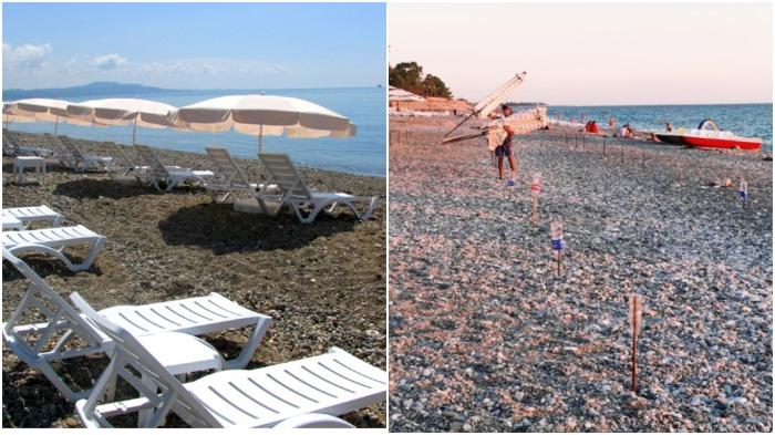 Каждый вечер работники пляжа собирают лежаки и зонтики / Фото: rcc-travel.ru