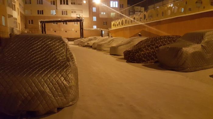 Теплые накидки - наиболее простой способ согреть автомобиль холодными ночами / Фото: yaplakal.com