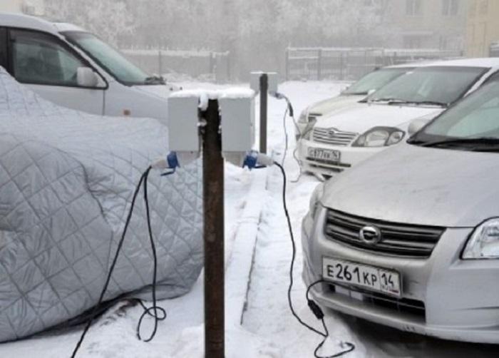 В Якутии есть гаражи и стоянки с отоплением, но они доступны не каждому / Фото: news.ykt.ru