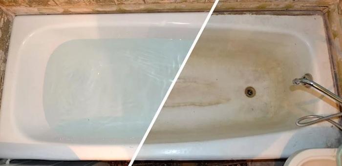 После окончания процедуры ванна становится белоснежная / Фото: news.myseldon.com