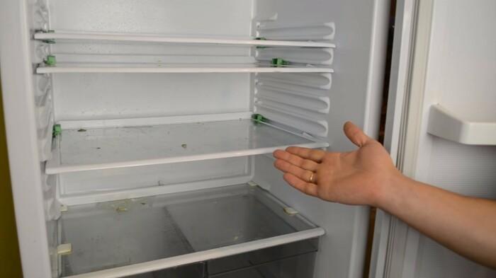 На полках холодильника в процессе эксплуатации периодически появляются загрязнения / Фото: protechniky.ru