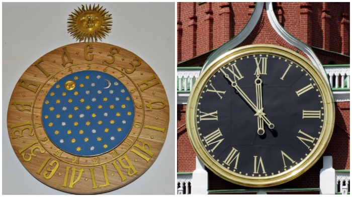 Почему на кремлевских часах раньше было 17 чисел вместо 12