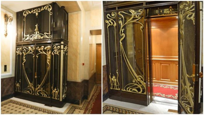 Первыми в городе именно в Доме «Зингер» были установлены электролифты «Отис» / Фото: spb-gid.ru