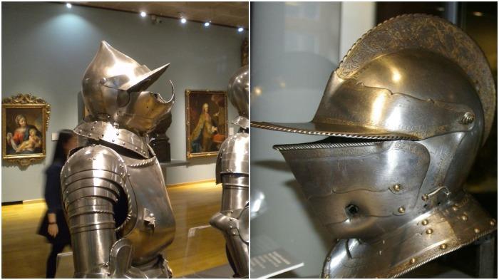 В музеях редко выставляют поврежденные в бою доспехи / Фото: Pinterest