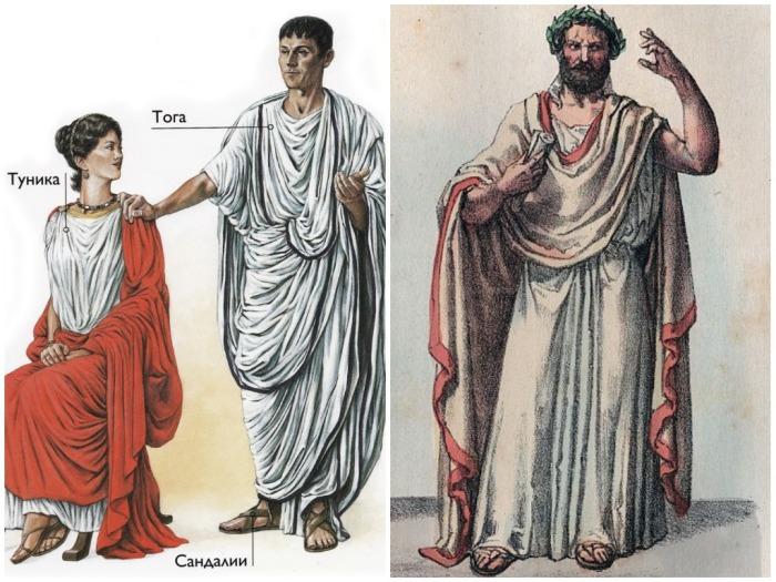 Обувь тоже была позаимствована у греков, римляне носили плетеные сандалии / Фото: m.fishki.net