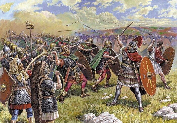 После завоевания северных земель римлянам позволили носить укороченные штаны / Фото: yandex.ru