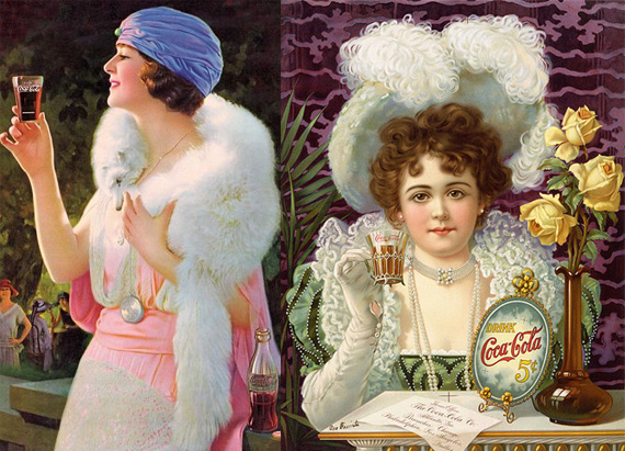 Актриса Хильда Кларк в рекламе Кока-Колы / Фото: vergoti.livejournal.com