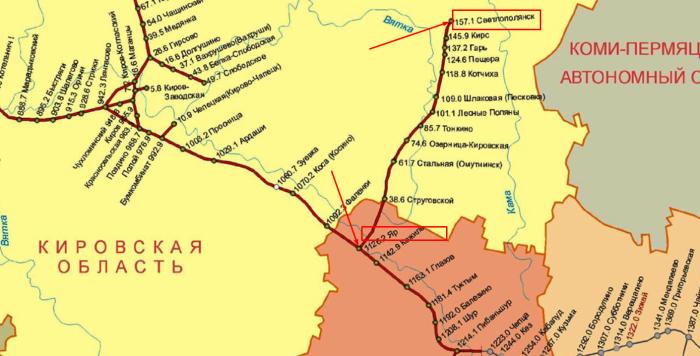 Несмотря на отсутствие на карте, железная дорога за станцией Верхне-Камская продолжалась еще на протяжении 250 км / Фото: slugba-perevozok.ru