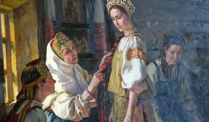 Молодым девушкам, поведение которых до свадьбы было слишком вольным, могли попросту приказать косу расплести / Фото: news.noteru.com