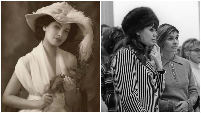 В отличие от советских женщин, аристократки могли оставаться в головных уборах, так как они были частью наряда / Фото: stihi.ru