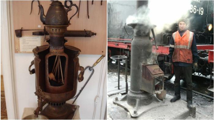 Разница между печью самоварной и паровозной колонки заключается в ее расположении / Фото: southklad.ru