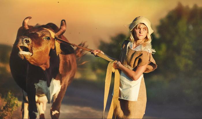 Коров раньше не если, а держали для получения молока / Фото: photosight.ru