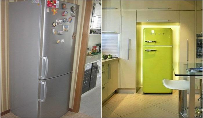 Нельзя устанавливать холодильник вплотную к стене или другим предметам мебели / Фото: Pinterest