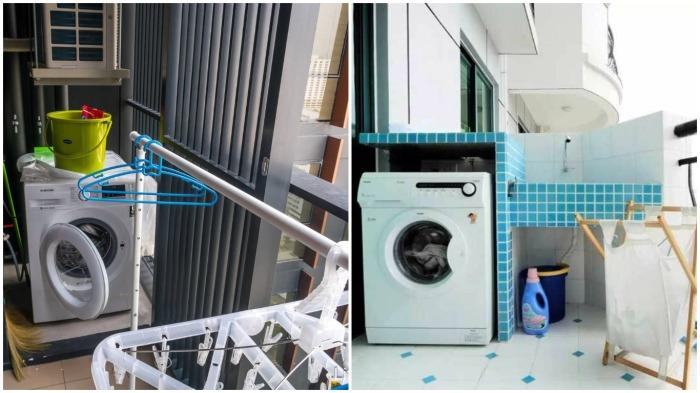 Установка на балконах или террасах стиральных машин – это нормально, тем более, что этому есть вполне логичное объяснение / Фото: life-trip.ru