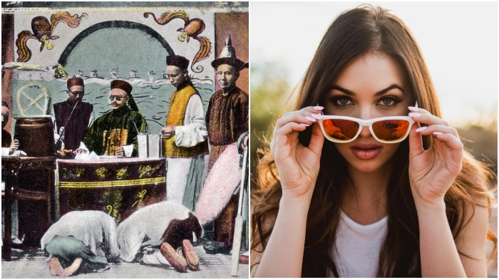 Сегодня очки - защита от солнца, в древнем Китае - предмет для сокрытия своих эмоций / Фото: mega.ru
