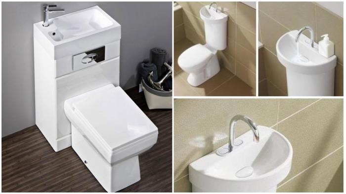 Раковина на сливном бачке унитаза - хорошая экономия места в ванной / Фото: busbeestyle.com