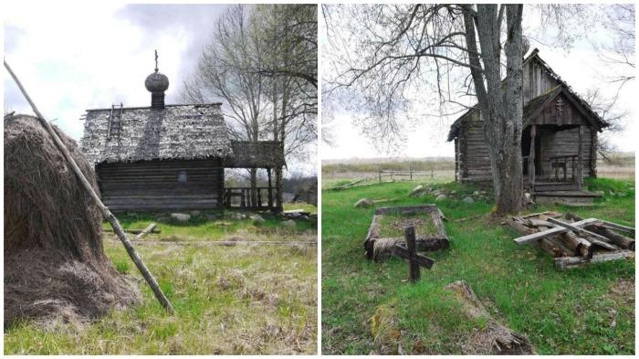 В деревушке даже есть погост с маленькой церквушкой / Фото: frosya-hod.livejournal.com