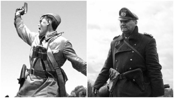 Существует немало различных версий, почему немецкие солдаты носили кобуру слева, а русские - справа / Фото: culture.ru