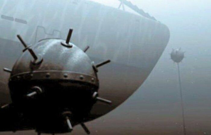 Бесконтактная магнитная мина взрывалась под воздействием магнитного поля корабля/ Фото: sail-friend.ru