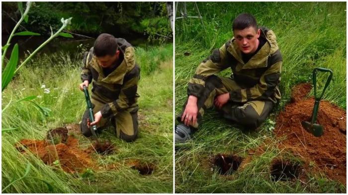 Очаг должен быть спрятан, для этого надо выкопать в земле углубление / Фото: yandex.ua