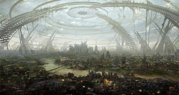 Одним из вариантов использования рудника было строительство города под куполом / Фото: tr.pinterest.com