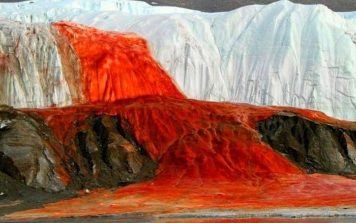 «Кровавый» водопад в царстве снега и льда: в чем загадка антарктического природного феномена