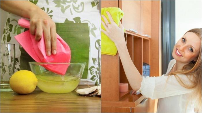 Тряпку следует смочить в приготовленном растворе, и орудие труда готово к использованию / Фото: domosedy.com